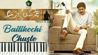 Baitikochi Chuste Song on keyboard | Agnyaathavaasi Songs| Pawan Kalyan,Keerthy Suresh