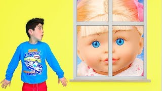 Giant Baby Doll Pretend Play with Fatima and Ismet