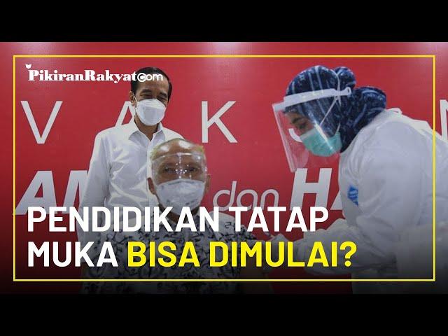 Tinjau Vaksinasi pada Guru, Presiden Jokowi: di Awal Semester 2, Pendidikan Tatap Muka Bisa Dimulai