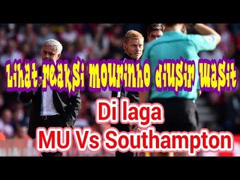 Lihat Reaksi Mourinho Diusir Wasit di Laga MU Vs Southampton