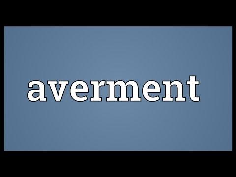 Header of averment