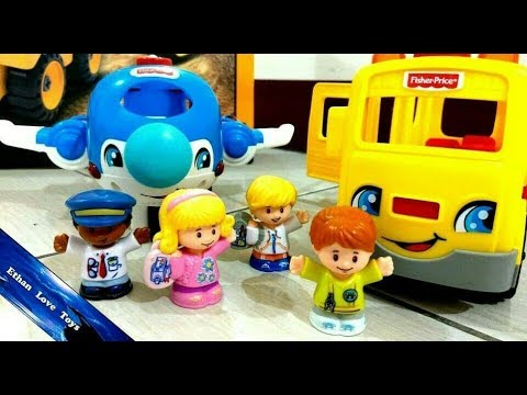 LITTLE PEOPLE TOYS! Going Place Travel Set Costco Toys Collections Unboxing & Play With Ethan
