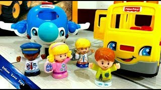 Fisher-Price / Little People, Going Place Travel Set / Children Rhymes / Unboxing / Review - ETHAN