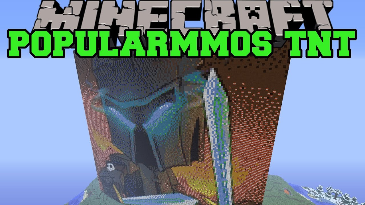 Minecraft Popularmmos Vs Tnt Build Creation Map Youtube