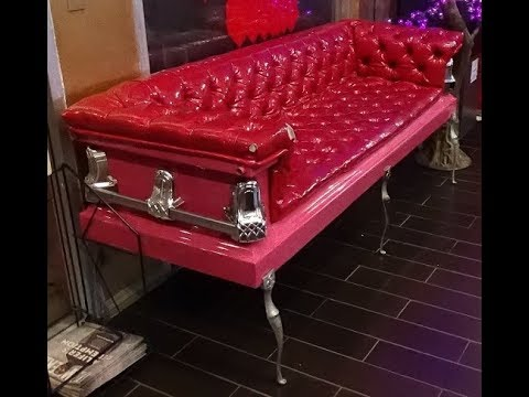 A Casket Couch YouTube - Casket coffee table