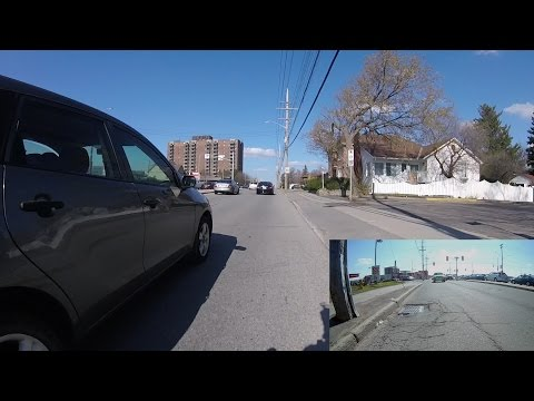 2017-04-28   Ottawa Walkley Rd multiple close passes by drivers