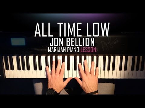 How To Play: Jon Bellion - All Time Low | Piano Tutorial Lesson