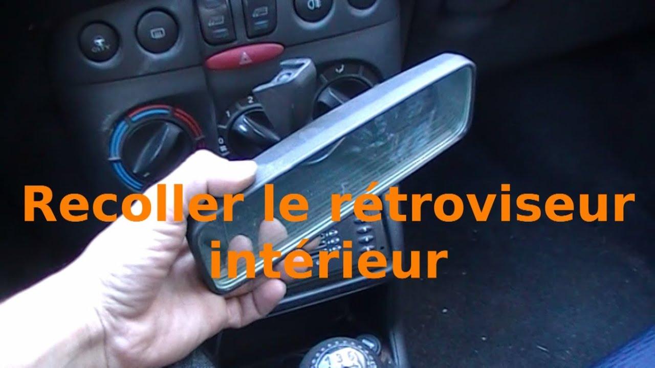 Recoller le r troviseur int rieur youtube for Retroviseur interieur