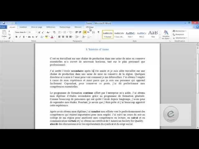 29 MS Word : Onglet Affichage :  Fenetre et Macros