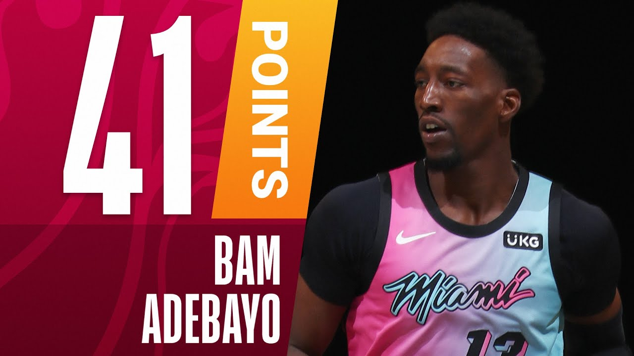 Download Bam Adebayo Drops CAREER-HIGH 41 PTS On The Road!