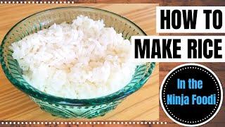 HOW TO MAKE WHITE RICE IN THE NINJA FOODI || Pressure Cooker White Rice || Super Fast & Easy