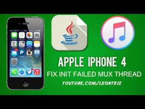 How to fix INIT FAILED MUX THREAD on SSH JAR (iPhone 4 iCloud Bypass)