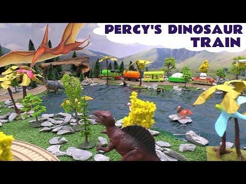 Percy Dinosaur Train and Surprise Egg Thomas The Tank Engine Train Thomas Y Sus Amigos Tomac Tomas