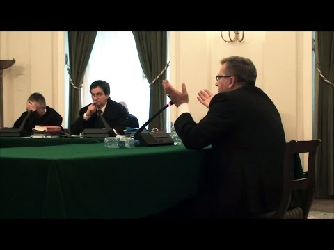Zeznania Bronisława Komorowskiego w procesie Wojciecha Sumlińskiego 18.12.2014