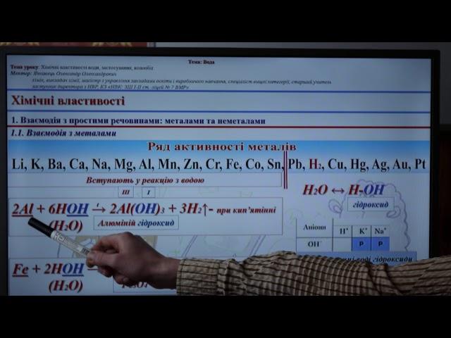 """7 клас. Хімія. Урок систематизації та узагальнення знань на тему """"Вода"""""""