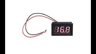 Электронный (цифровой) вольтметр Electronic voltmeter с aliexpress (блиц-обзор)