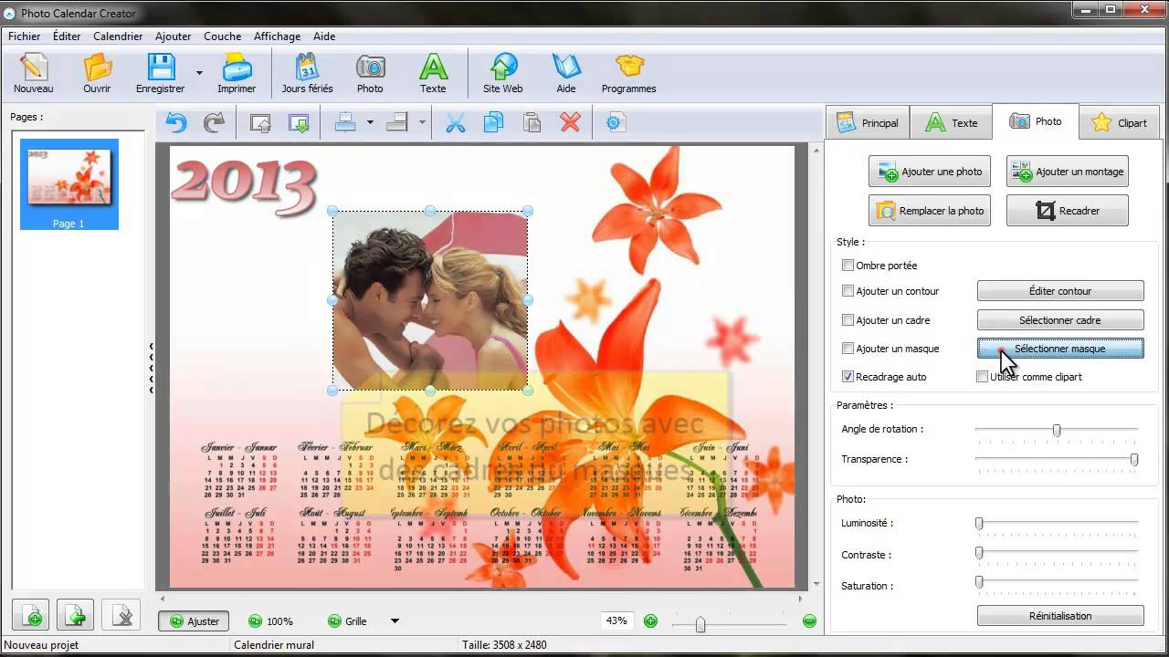 Comment faire un calendrier photo personnalis youtube for Calendrier photo mural gratuit