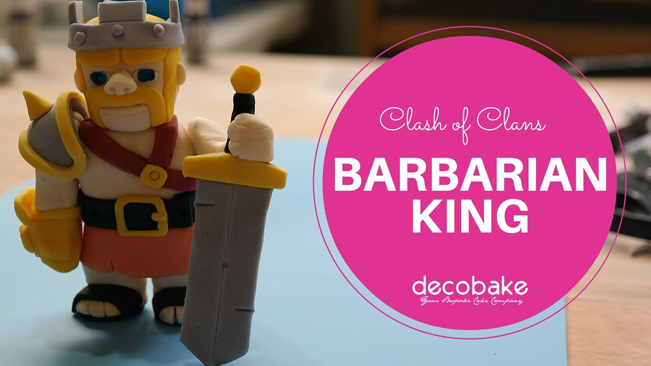 Clash Of Clans Barbarian King Fondant Topper YouTube - 1280x720 - jpeg
