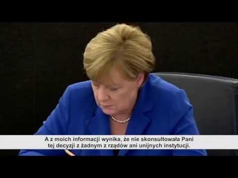 Merkel,Hollande and Polish Politician in European Parliament