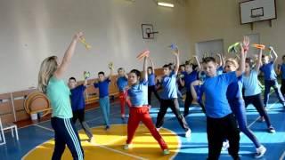 Урок фізкультури в 3-А класі. Школа культури рухів (гімнастика). Учитель Шкамаріда Т.С.