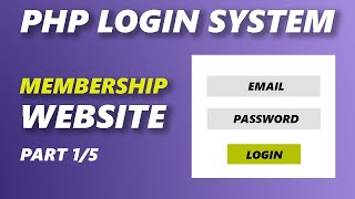 PHP with MySQL - Login and Register System - Part 1