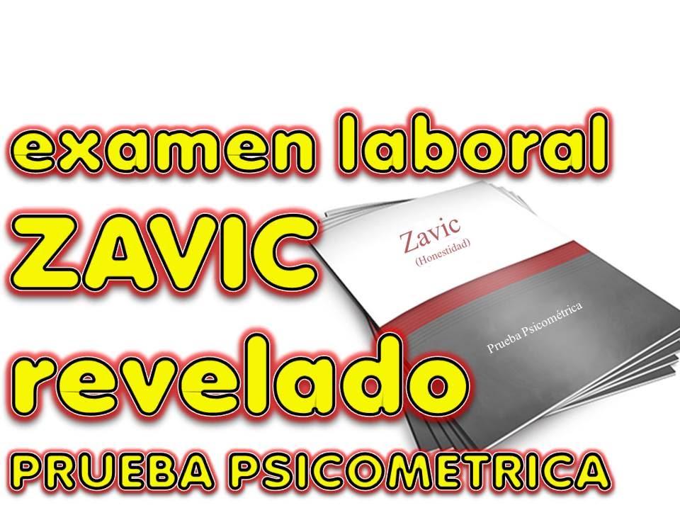 Zavic Examen Laboral Revelado Prueba Psicometrica Secretos Revelados Youtube