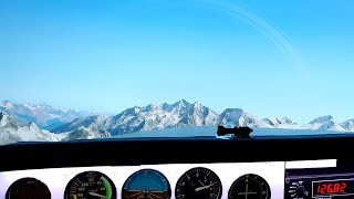 The beauty of X-plane 11 over the Alps.