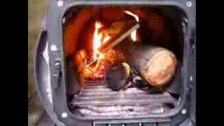 Test Burning The Barrel Stove And Sampling Survival Food Rations