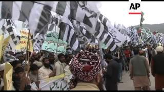 Anti US-NATO protest organised by banned Jamaat-ud-Dawa