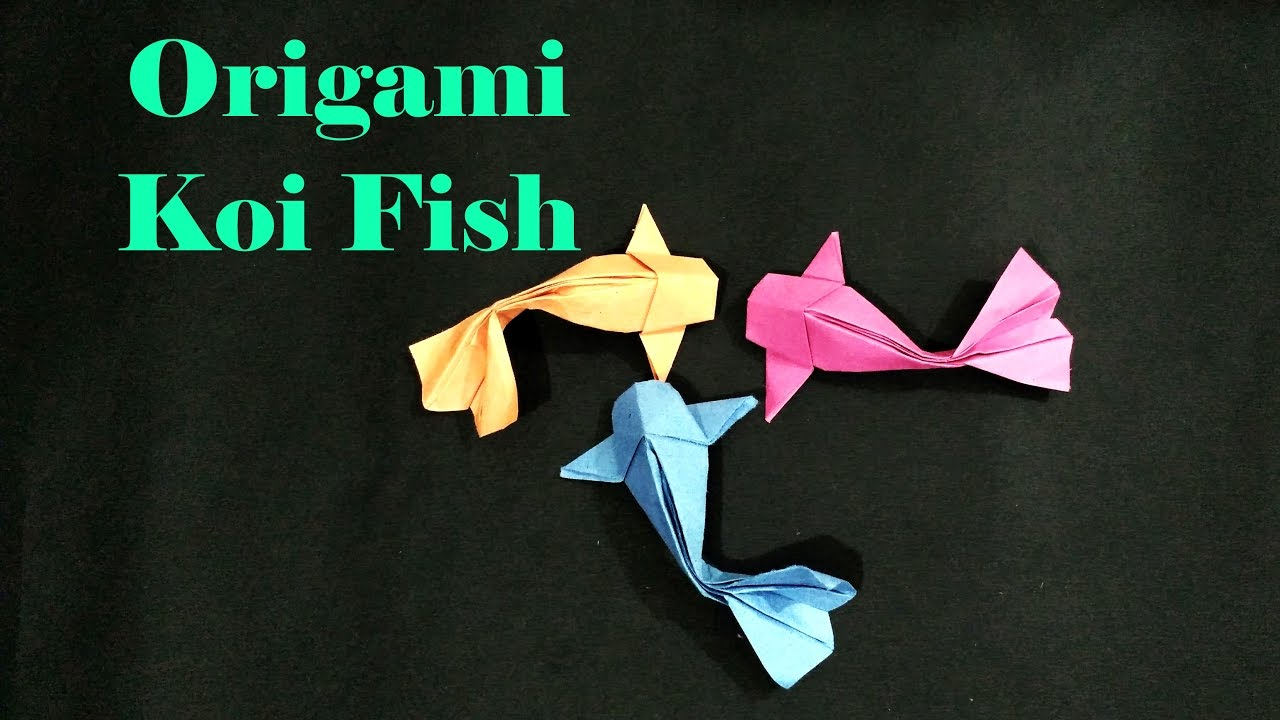 how do you make a origami koi fish tutorial origami handmade
