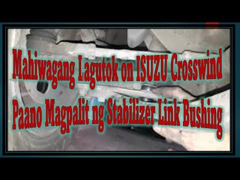 Lagutok sa Ilalim I Stabilizer Bushing Replacement on ISUZU Crosswind