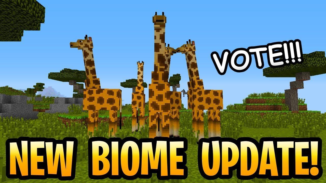 New Minecraft Biome Update! Vote For Savanna, Taiga Or ...