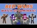 Minecraft: Hypixel Bedwars / Level 47 OP Teammate! / Fastest Victory! / Watch Us Dominate!