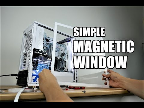 DIY PC side panel window magnetic - quick and easy