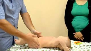 Домашняя гимнастика занятия на мяче для новорожденных 0-6мес(Комплекс гимнастики для новорожденных, который Вы без труда сможете делать дома., 2015-09-09T12:07:09.000Z)