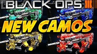 """NEW """"DLC CAMOS"""" in Black Ops 3 LEAKED - COLOR """"DARK MATTER"""" CAMOS in BO3 (NEW Supply Drop Camos)"""