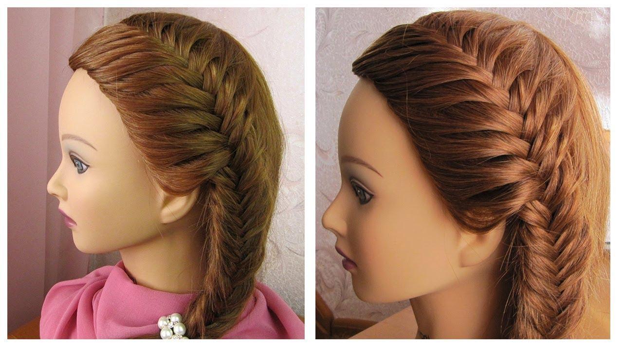 coiffure sur le côté 🌸 tresse épi de blé 🌸 tuto coiffure pour tous les  jours et pour les fêtes