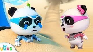 Help! Baby Panda's Trapped in Sand Storm | Super Panda Rescue Team | Cartoon for Kids | BabyBus