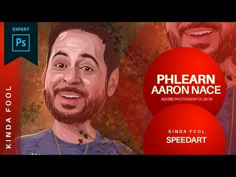 Phlearn vexel potrait  (Aaron Nace) using Adobe Photoshop Cc 2019 Speedart