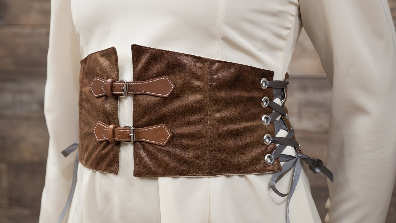 1a448ee529 How to Sew a Waist Cincher Belt - YouTube