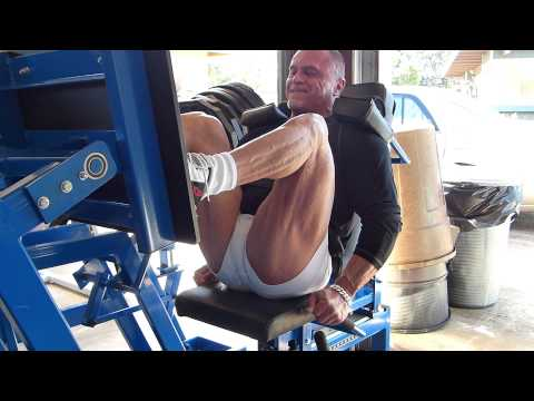 MedX Avenger Leg press with black high tension band attached