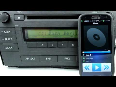 GROM Audio Bluetooth Demo in Toyota Prius and Samsung Galaxy - Hands Free Calls and Music