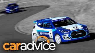 Hyundai Veloster Turbo: Raptor Race Track Day - CarAdvice(What if Hyundai made the Veloster SR Turbo more hardcore, gave it extra power, better handling and produced a more rewarding driver's car? Hyundai ..., 2014-08-08T02:05:25.000Z)