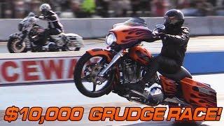 $10,000 Harley Grudge Race - Turbo Street Glide vs Nitrous Street Glide