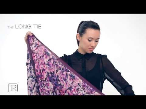 How To Wear Big Square Scarf -Tie Rack Edition - Short Promo