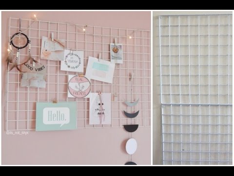 Office Dorm Diy Wall Decor Grid Organization Under 1