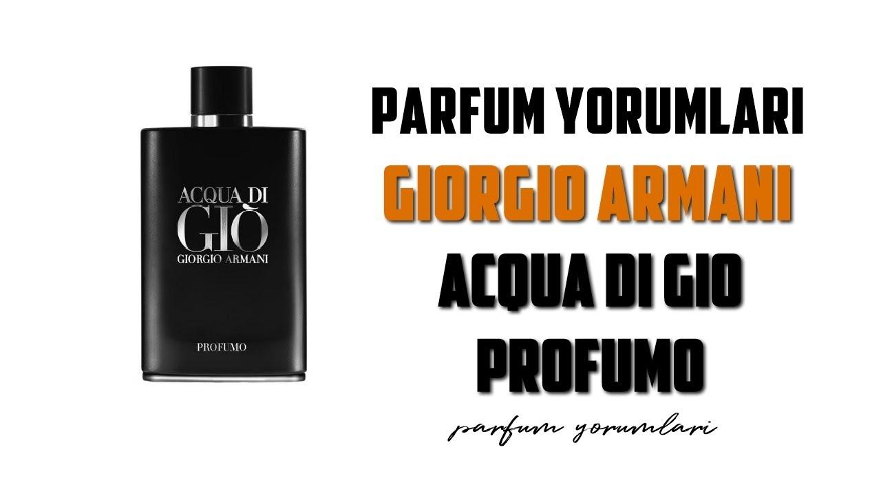 Acqua Di Gio Profumo Parfüm Tanıtım Yorumu Youtube