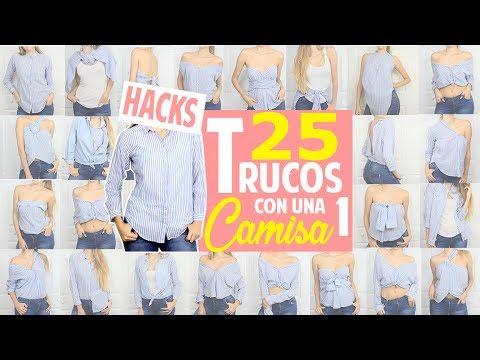 25 TRUCOS/HACKS DE MODA CON UNA CAMISA QUE TODA MUJER DEBERÍA SABER! |FASHION HACKS| Magic Armarium