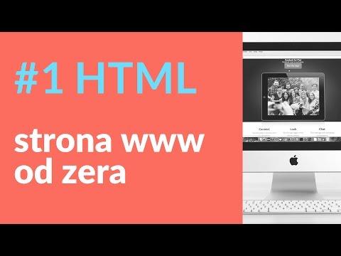 Strona internetowa od zera. Cały kod HTML 1/4