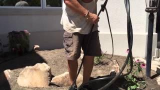 Man Skills...Irrigating my front garden.